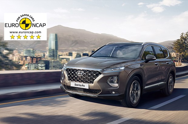 5 Euro NCAP Sterne - Hyundai Santa Fe