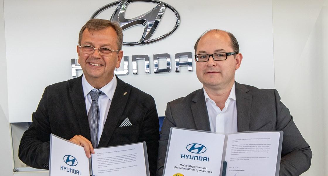 Hyundai ist Sponsor des Linz Donau Marathon