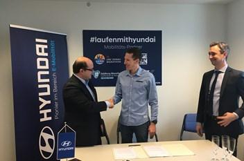 Peter Herzog als Hyundai Markenbotschafter