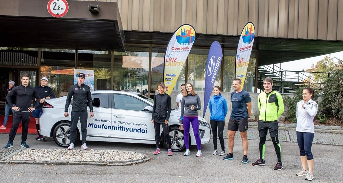 Lauftraining mit Hyundai Markenbotschafter Peter Herzog in Linz