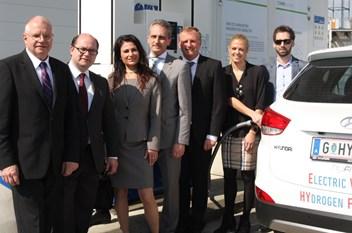 Neue OMV-Wasserstoff-Tankstelle in Graz
